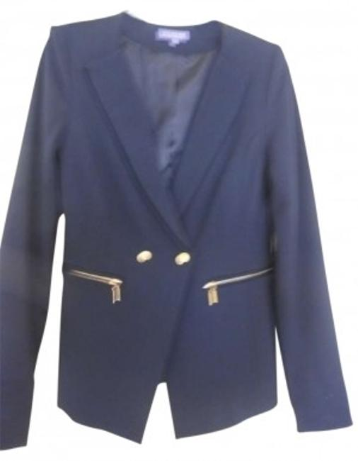 Vivienne Tam Name: Description: Tuxedo With Zipper Pockets & On Sleeves Navy Blazer