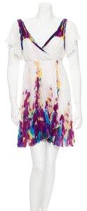 Diane von Furstenberg Watercolor Pleated Floral Spring Dress