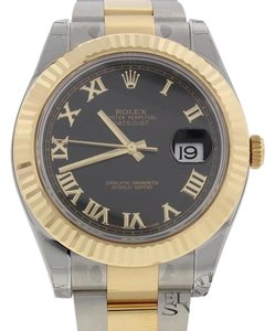 Rolex UNWORN Rolex Datejust II Gold/Steel 41MM Mens Watch 116333 Box&Papers