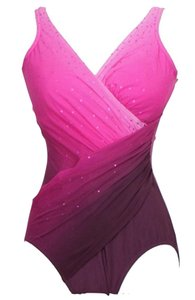 Miraclesuit Fade Into You Ombre Oceanus Surplice Swimsuit 10