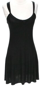 Three Dots short dress Black Cross Back on Tradesy
