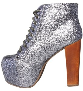 Jeffrey Campbell Lita New Pewter Glitter Boots