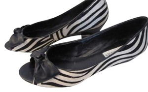 Steve Madden Zebra Black & White Wedges