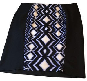 Lane Bryant Black 20 1x Xl Skirt Black, royal blue, white