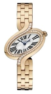 Cartier Delices De Cartier 18K Rose Gold Diamond Quartz Watch WG800003