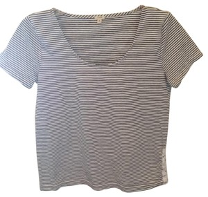 J.Crew T Shirt White with navy stripe
