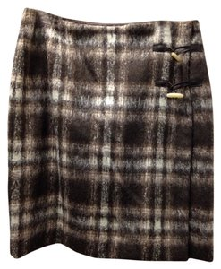 Pendleton Wool Skirt Brown and white
