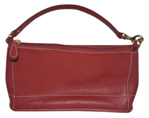 Coach Bleeker Demi Zip Style 9311 Leather Wristlet in Red