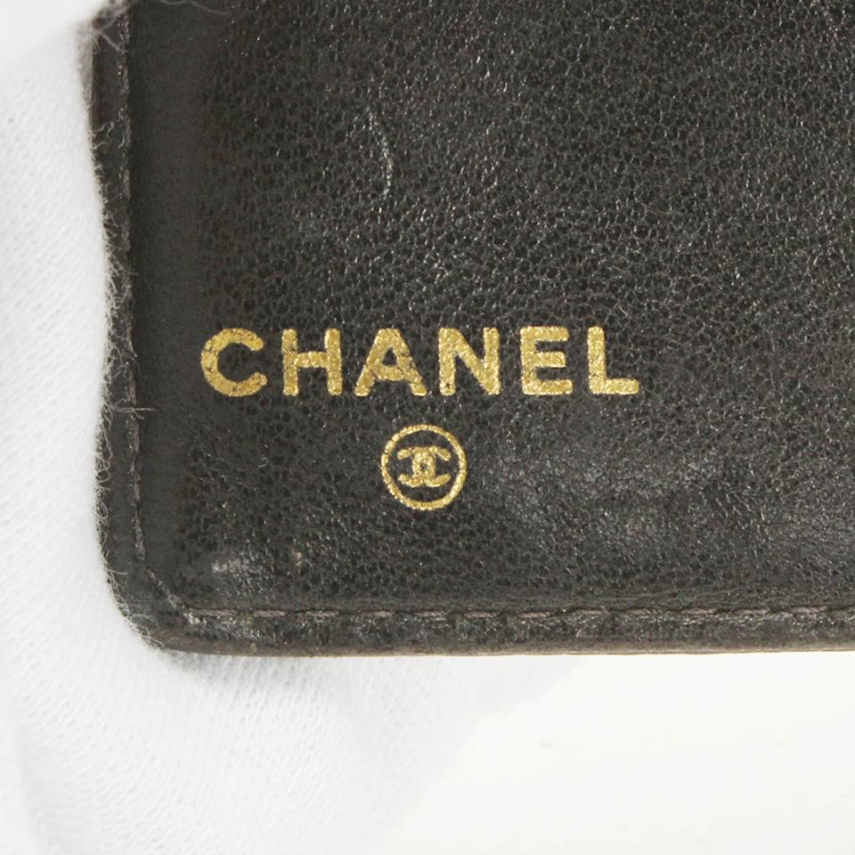 Chanel Black Coin Case Caviar Business Card Leather Id Card Holder ...