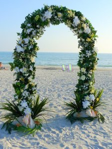 """White Metal 55""""Wx90""""H (7.5ft) Arch Party Floral Prom Assemble Ceremony Decoration"""