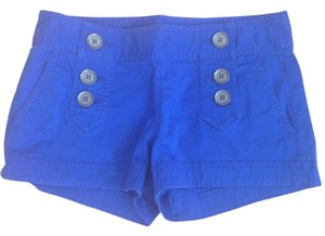 Express Buttons Mini/Short Shorts Blue
