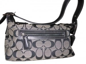 Coach Name: Signature Handbag Description: Signature C With Leather Trim Hobo Bag