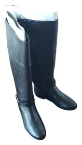 Cole Haan Leather Riding Equestrian Black Boots