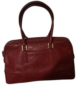 Coach Rare Leather Good For Every Day Classic Large C's Satchel in Red