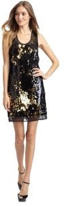 Alexia Admor Sequin Party Tank Sequins Sparkle Gold Black And Gold Holiday Holiday Dress