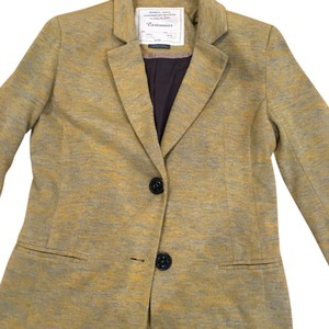Anthropologie Golden yellow with green tint Blazer