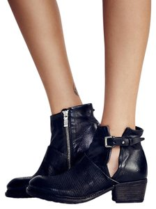Free People A.s.98 Leather Moto Black Boots