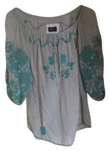 Biya Embroidered Top blue/green