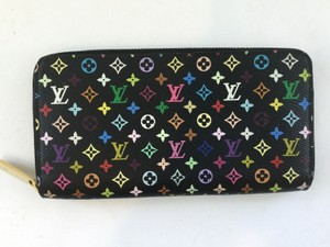 Louis Vuitton Multicolore Zippy Wallet in Black Multicolore