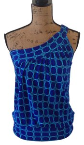 New York & Company Top Cobalt blue & turquoise