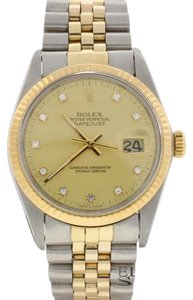 Rolex Rolex Datejust Original Champagne Diamond 18K Gold/Steel 36MM 16013