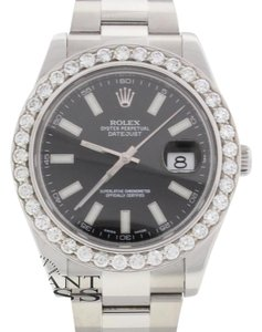Rolex Rolex Datejust II 41MM Mens Watch 116300 4.20CT Diamond Bezel