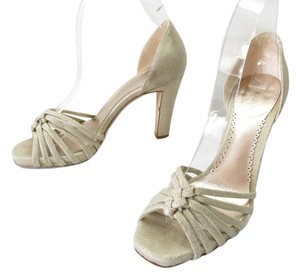 Giorgio Armani Heels Soft Creamy Gold Fabric Pumps