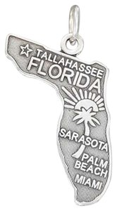 Impulses STERLING SILVER ANTIQUED FLORIDA STATE CHARM