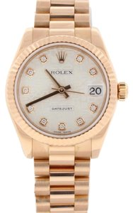 Rolex Rolex President Jubilee Diamond Dial Rose Gold Midsize 178275 Box&Papers