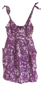 American Eagle Outfitters short dress Purple Babydoll Floral Summer Spring on Tradesy
