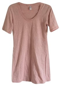 American Apparel short dress Pink T-shirt Summer on Tradesy