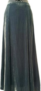 Anthropologie Fei Silk Velvet Blue Maxi Skirt Midnight Blue