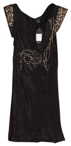 Hannah Jones Silk Beaded Chains Top Black