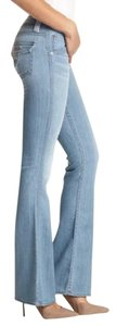 Hudson Jeans Faded Designer Hudson Distressed Light Wash Boot Cut Jeans-Light Wash