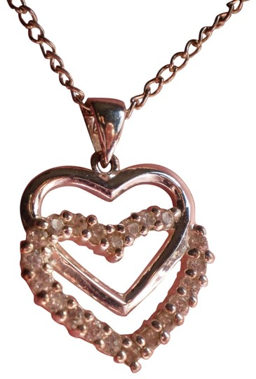 Preload https://img-static.tradesy.com/item/154930/silver-like-new-double-heart-crystals-necklace-0-1-540-540.jpg
