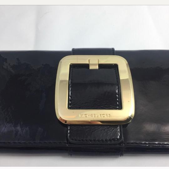 Michael Kors Black and Gold Clutch Image 2