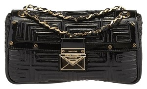 Versace Gianni Couture Quilted Patent Leather Shoulder Bag