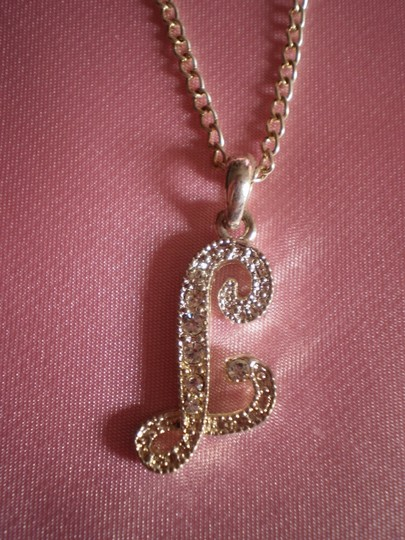 Other Initial 'L' w/crystals necklace
