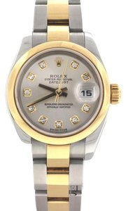 Rolex Rolex Datejust Ladies Diamond Dial 2-Tone Gold/SS 26MM Watch 179163