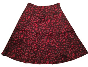 INC International Concepts Skirt Black and Red