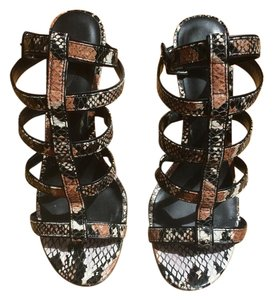 Charles by Charles David Strappy Snakeprint Hot Sand Snake Sandals