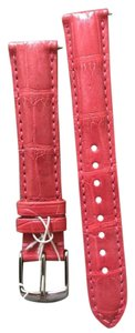 Michele NWT MICHELE PRIMROSE Pink ALLIGATOR STRAPS 16mm MS16AA510591
