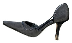 Robert Clergerie Peau De Soir Silk High Heel Evening Formal Women Heels Like New Size 7.5 Leather Black Pumps