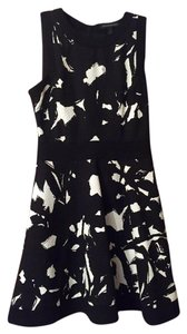 Banana Republic short dress Black and white print Fit & Flare on Tradesy