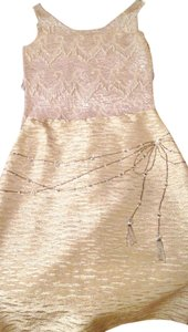 Other Embellished Evening Metallic Wedding Skirt gold