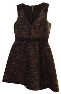 H&M Fit And Flare Tweed Metallic Dress