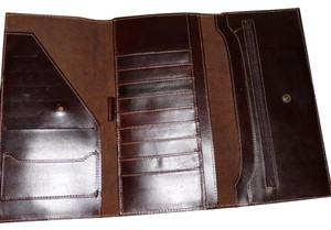 Eddie Bauer Passport Travel Document Brown Clutch