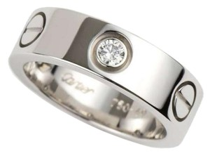 Cartier Cartier 18K White Gold Dimaond Love Ring B4032500 US 4.5