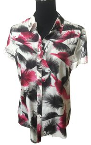 MCQ by Alexander McQueen Button Down Shirt White,black ,cyclamen