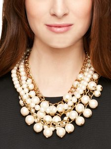 Kate Spade BRAND NEW WITH TAGS Kate Spade New York Purely Pearly Statement gold plated Necklace, 16